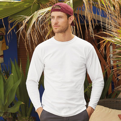 Fruit of the Loom Super Premium Long Sleeve T-Shirt