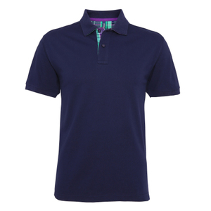 Asquith & Fox Men's Check Trim Polo