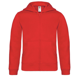 B&C Kids Hooded Full Zip Sweatshirt