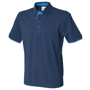 Front Row Contrast Cotton Pique Polo Shirt